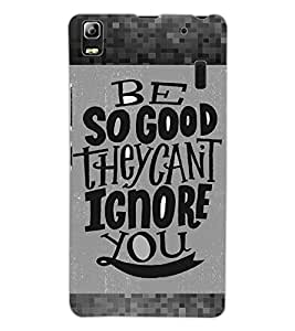 ColourCraft Lovely Quote Design Back Case Cover for LENOVO K3 NOTE