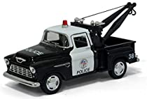 5 1955 Chevy Stepside Pick-up Tow Truck (Police) 1:32 Scale by Kinsmart
