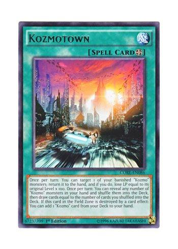 遊戯王 英語版 CORE-EN086 Kozmotown (レア) 1st Edition