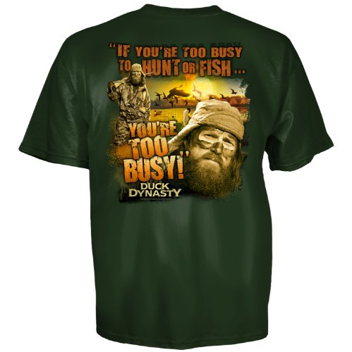 Duck Dynasty Duck Commander Too Busy Hunt Fish Shirt