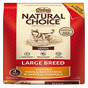 Natural Choice Large Breed Senior Dog Chicken/Brown Rice/Oatmeal Dry Food, 15-Pound