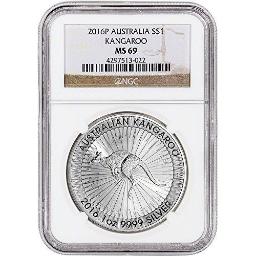 2016 AU Australia Silver Kangaroo $1 MS69 NGC