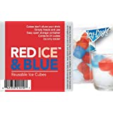 Red, Ice and Blue (TM) Reusable Ice Cubes for your Drinks