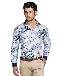 YOO Blue Color Casual Shirt for men