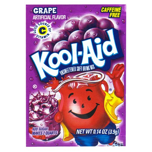Kool-Aid Grape Unsweetened Soft Drink Mix (Pack of 48)