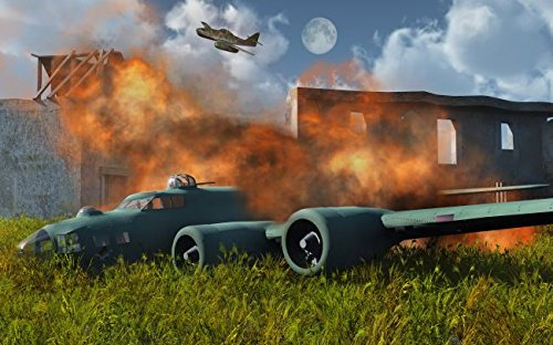 An American B-17 Flying Fortress shot down during World War II. 16 x 20 Poster