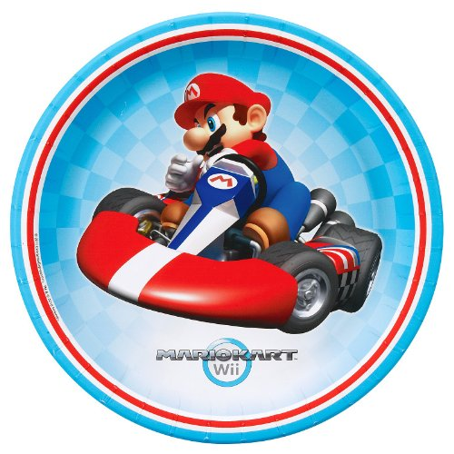Party Destination 234459 Mario Kart Wii Dinner Plates