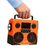 Ivation Water-Resistant Solar- & Dynamo-Powered AM/FM/NOAA Radio, Bluetooth Stereo Speaker & Phone Charger - Rugged Design for Hiking, Camping, Construction Sites, Etc.