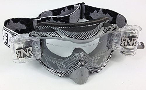 RIP N ROLL RNR HYBRID FULLY LOADED MOTOCROSS MX GOGGLES (CARBON FIBRE)