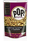 Pop Gourmet Spiced Caramel Handcrafted Popcorn with Cashews, 7.25-oz Bags (Pack of 4)