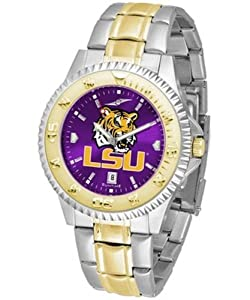 Louisiana State LSU Tigers NCAA Mens Two-Tone Anochrome Watch by SunTime