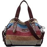 Santimon - Frau multifunktionale Rucksack, Handtasche, Messenger Bag, Schultertasche , Reisetaschen , Sporttaschen, Rucksäcke für Mädchen, mit hochwertigen Canvas-Material, zuverlässige Qualität, stark und haltbar.