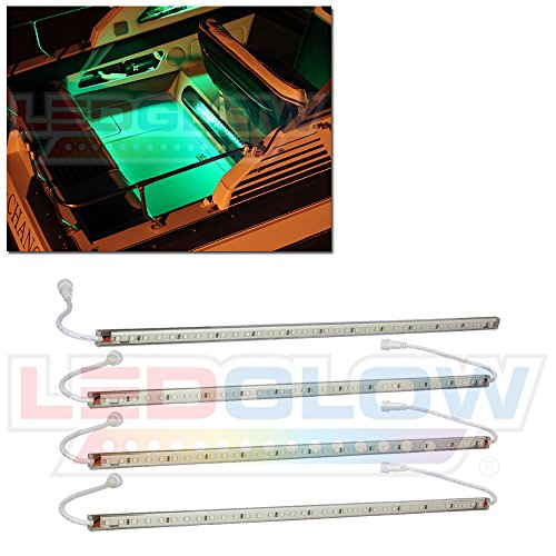 4pc Green LED Boat Deck & Cabin Lighting Kit