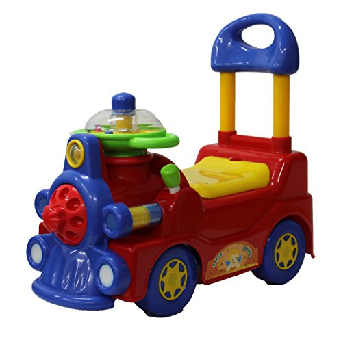 High Bounce Push N Ride Train Activity Walker.(Red & Blue)