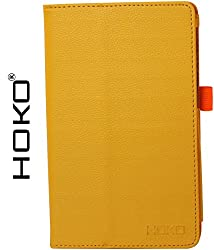 Nexus 7 2nd Gen Case, HOKO Yellow Leather Flip Case Cover Stand with magnetic closure for Asus Google Nexus 7 2nd Gen (Auto wake and sleep)