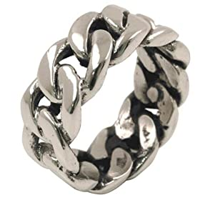 Chain Link - Sterling Silver Ring