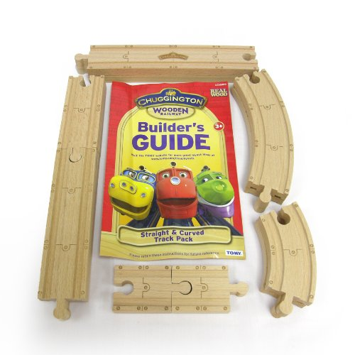 Chuggington Wooden Railway Straight and Curved Track Pack