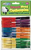 "Colored Clothespins 1 7/8"" 24/Pkg-"