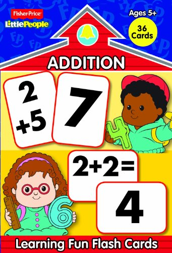 Fisher Price Little People Learning Fun Math Flash Cards-Addition (Fisher Price Math Flash Cards compare prices)