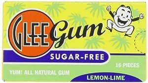 Glee Gum Sugar-Free Lemon-Lime, 1-Ounce (Pack of 12)