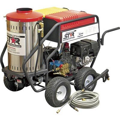 - NorthStar Gas Powered Wet Steam & Hot Water Pressure Washer with Honda Engine - 3000 PSI, 4 GPM