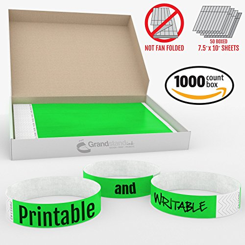 grandstand-ink-3-4in-neon-green-tyvekr-wristbands-print-writable-sheets-in-distribution-box-paper-fe