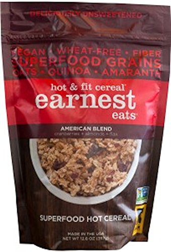 Earnest Eats Vegan Hot Cereal With Superfood Grains, Quinoa, Oats And Amaranth - American Blend - (14 Oz)