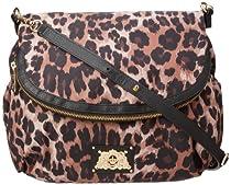 Juicy Couture Malibu Nylon Baby Bag YHRU3814 Crossbody,Brown Leopard,One Size