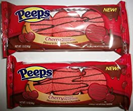 Peeps Cherry Flavored Marshmallow Dipped amp Drizzled in Chocolate 2pk 15 Oz Ea