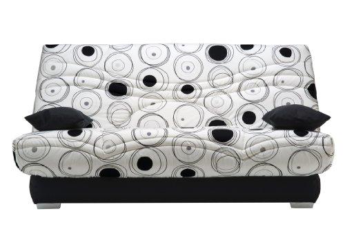 Clic-clac TOBAGO imprimé SILVER 130 x 190 cm