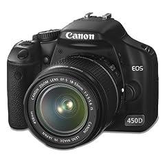 Canon EOS 450D SLR-Digitalkamera (12 Megapixel, LifeView) Kit inkl. EF-S 18-55mm 1:3,5-5,6 IS Objektiv (bildstabilisiert)