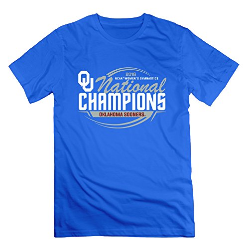 CXY Men's Crimson Oklahoma Sooners 2016 Gymnastics Champions T-Shirt