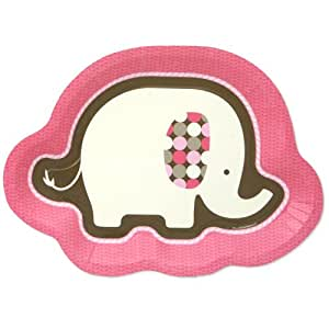 Pink Elephant Dinner Plates (8 count)