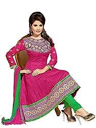 Blissta Women's Cotton Dress Material (KZD1003_pink_0)