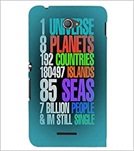 PrintDhaba Quote D-4406 Back Case Cover for SONY XPERIA E4 (Multi-Coloured)