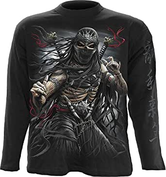 Spiral ninja assassin manches longues unisexe noir -  Noir - Large