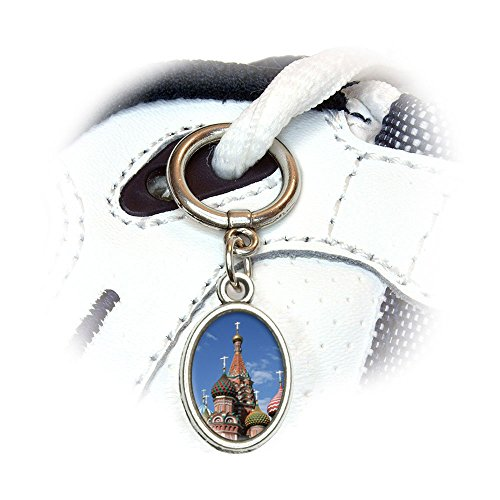 Kreml ST Basilius-Kathedrale Russland Rot Quadratisch Schuh Sneaker Schuhbändern Oval Charm Dekoration
