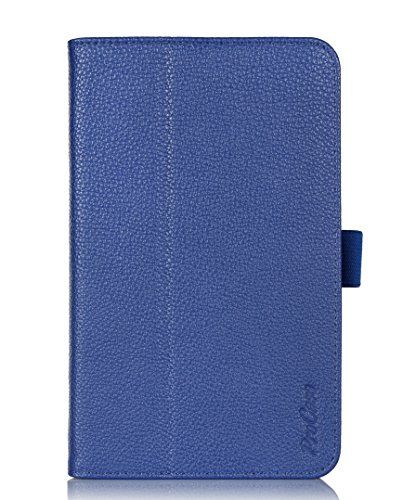 ProCase LG G Pad 7.0 Case - Bi-Fold Flip Stand Folio Cover Case exclusive for LG G Pad 7 inch Tablet (V400), with Hand Strap, bonus procase stylus pen (Navy, Dark Blue) (Lg Tablet Covers compare prices)