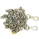 ONBLUE 10MM Flat Metal Iron DIY Chains Handbag Accessories Purse Handles Clutch Straps Shoulder Straps Replacement Silver