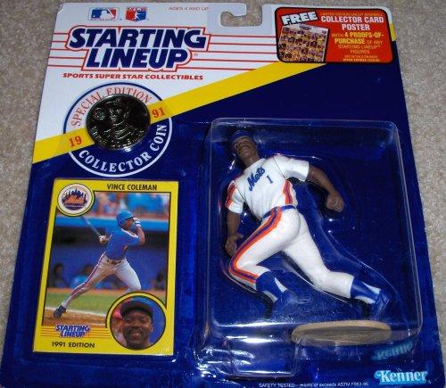 Vince Coleman 1991 MLB Starting Lineup - 1