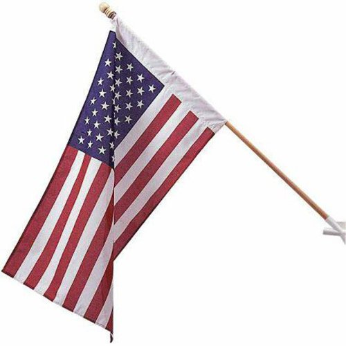 Heath Outdoor  2 - 1/2 -by-4 Feet Poly Cotton Decorative US Flag #25303