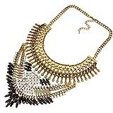 YAZILIND 18K ethnique Déclaration Bib strass Résine style Or Choker Collier pour Bijoux Femmes Cadeau