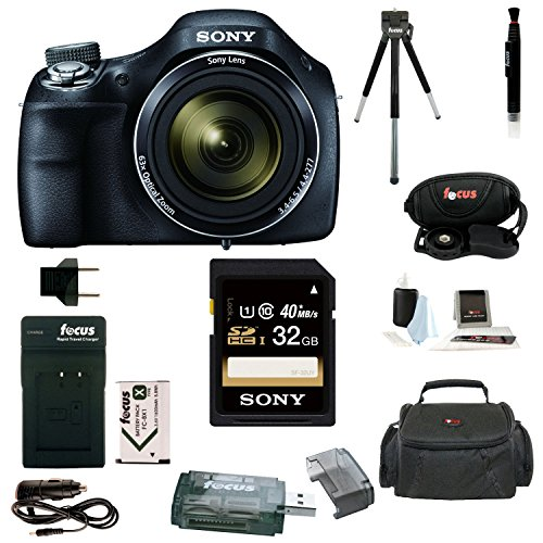 Sony Cyber-shot DSC-H400 Digital Camera with 32GB Deluxe Accessory Bundle (Sony H300 Point And Shoot Camera compare prices)