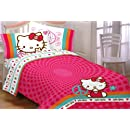 Hello Kitty Peace Kitty Twin Sheet Set