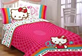 51J7Z9zDJIL. SL160  Hello Kitty Peace Kitty Twin Sheet Set
