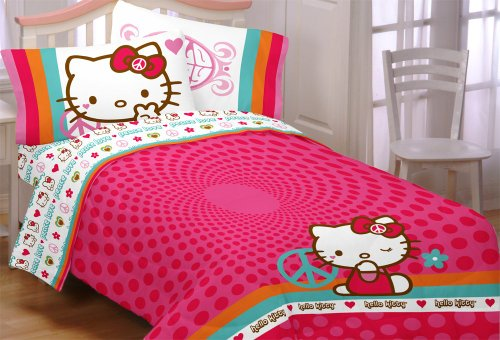Hello Kitty Peace Kitty Twin Comforter