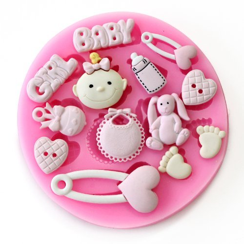 Allforhome Small Baby Girl Silicone Sugar Resin Craft Diy Moulds Diy Gum Paste Flowers Cake Decorating Fondant Mold front-56598