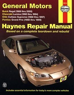 haynes repair manual general motors buick regal  88 05 Fasco W3 Wiring-Diagram Auto Zone Wiring Diagrams