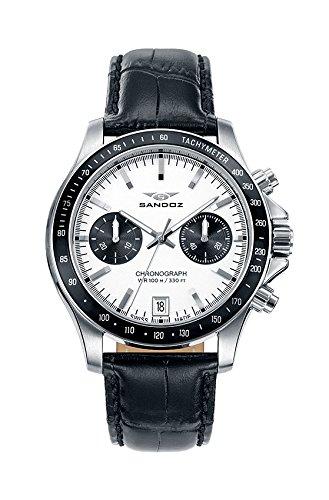 Cronografo in acciaio cinturino SR Sandoz