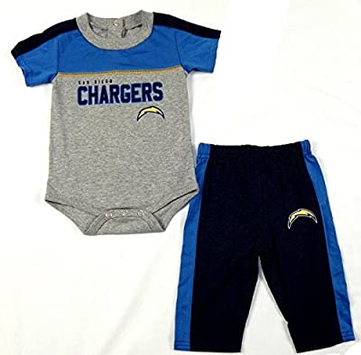 San Diego Chargers NFL Infant Horizon Bodysuit Pants Set
